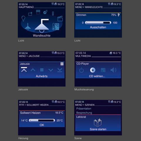 Funktionen Comfort Panel