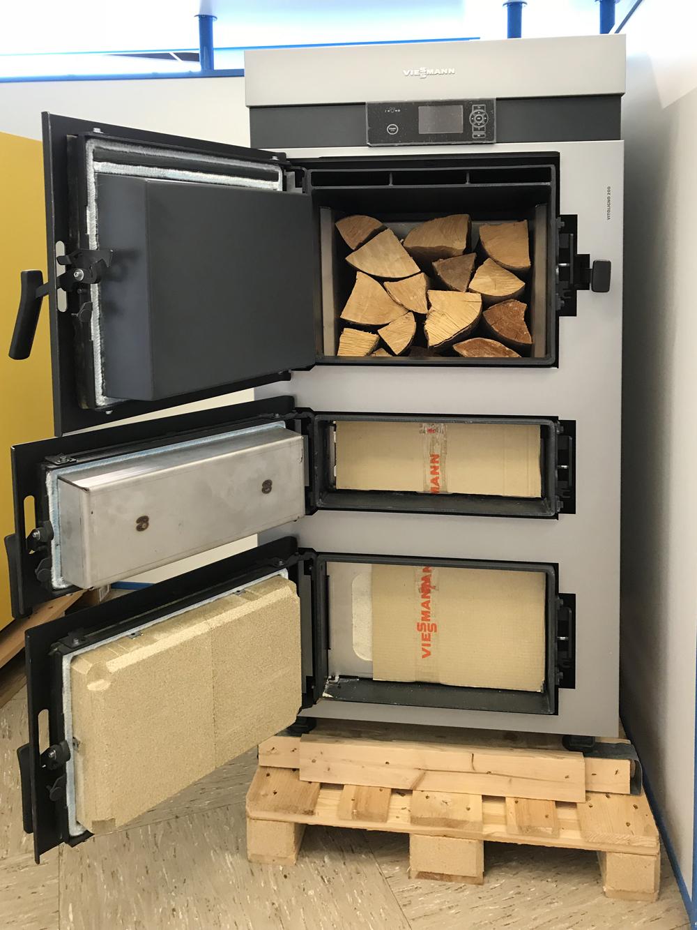 Scheitholzkessel Holzvergaserkessel Viessann Vitoligno 200-S -offen-